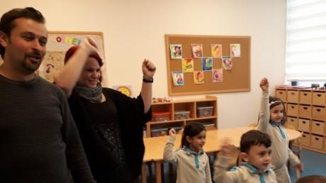 Bornova Okyanus Anaokulu Kuşlar Sınıfı Öğrencilerimiz Aile Katılımı Etkinliğinde Gündüz Ailesi İle Birlikte