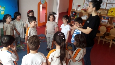 Çekmeköy Okul Öncesi Gökkuşağı Grubu Drama Dersinde