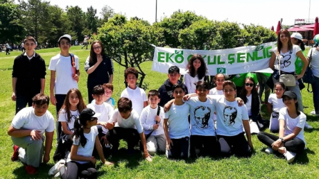 Eryaman Okyanus Koleji Ortaokul Öğrencileri Eko-Okullar Bahar Şenliğinde
