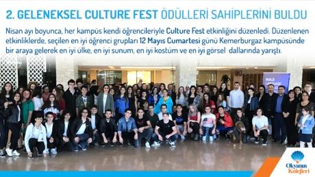 Geleneksel 2.Culture Fest Ödülleri Sahiplerini Buldu.