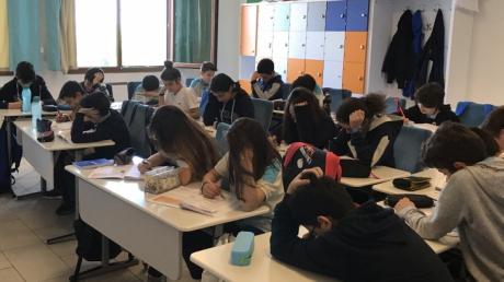 İncek Okyanus Koleji 7. Sınıfların 8'e Hazırlık LGS denemesi