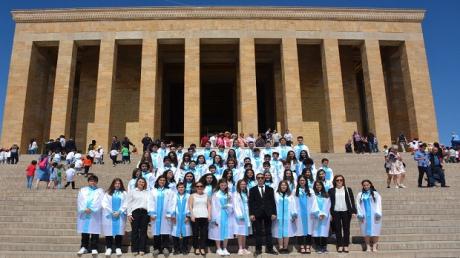 İncek Okyanus Koleji Ata'sının Huzurunda