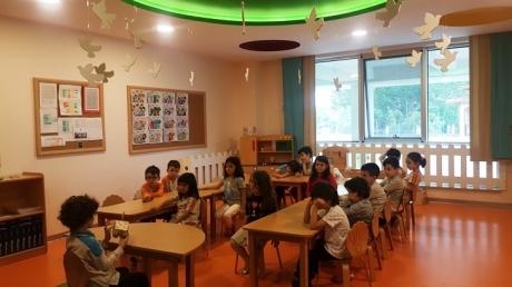 Kemerburgaz Okyanus Koleji Gökkuşağı Grubu Öğrencileri Sosyal Beceri Dersinde Sunumlarını Gerçekleştiriyor