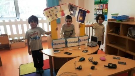 Kemerburgaz Okyanus Koleji Gökkuşağı Grubu Öğrencileri Proje Dersinde Sunumlarını Gerçekleştiriyor