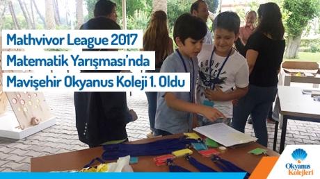 Mathvivor League 2017 Matematik Yarışmasında Birincilik Kupası İzmir Mavişehir Kampüsünün