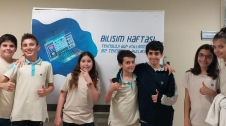 Mavişehir Okyanus Koleji Ortaokul Öğrencileri Bilişim Haftasını Kutladı
