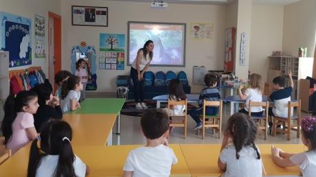 Sancaktepe Okyanus Koleji Okul Öncesi Bulutlar Grubu Öğrencileri Aile Katılımı Etkinliğinde