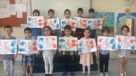 Sancaktepe Okyanus Koleji Okul Öncesi Gezegenler Grubu Öğrencileri Sanat Etkinliğinde