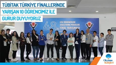 Tübitak Türkiye Finallerinde Yarışan 10 Öğrencimiz İle Gurur Duyuyoruz