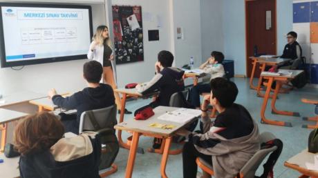 8.Sınıf Öğrencilerimize LGS Kılavuzu Hakkında Bilgilendirme Yapıldı