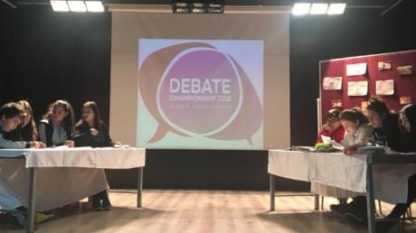 In Güneşli Okyanus Secondary School 7th Graders Had A Debate