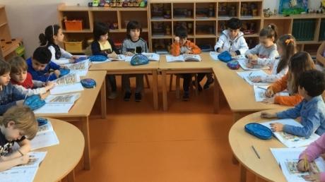 Avcılar Yıldızlar Grubu Öğrencileri Okuma-Yazma Etkinliğinde