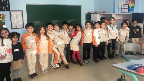Bahçeşehir Okyanus Koleji Üstün Zekalılar ve Yetenekliler İlkokulu 1-E Sınıfı Öğrencileri ''Zıt Anlamlı Kelimeler'' Etkinliğinde