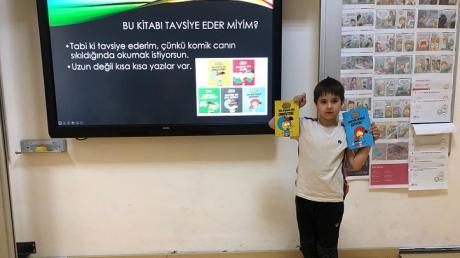 """Bahçeşehir Üstün Zekâlılar ve Yetenekliler İlkokulu 3-F Sınıfı Öğrencileri """"Sevdiğim Kitap"""" Etkinliğinde"""