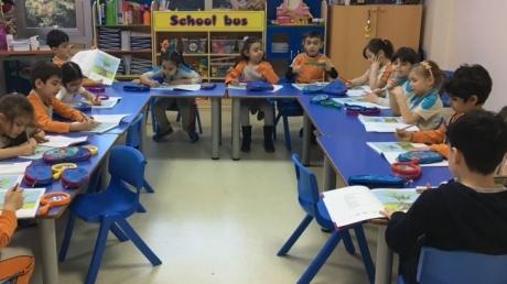 Beylikdüzü Okul Öncesi Gökkuşağı Sınıfı Okuma Yazmaya Hazırlık Dersinde