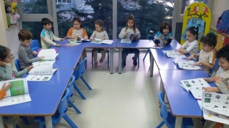 Beylikdüzü Okul Öncesi Güneş Sınıfı Okuma Yazmaya Hazırlık Dersinde