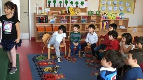 Çekmeköy Okul Öncesi Gökkuşağı Grubu Proje Dersinde
