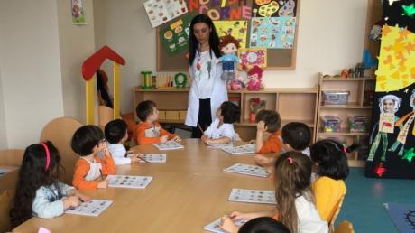 Çekmeköy Okyanus Koleji Okul Öncesi Balıklar Grubu Öğrencileri Okuma Yazmaya Hazırlık Etkinliğinde