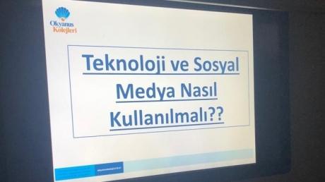 Çekmeköy Okyanus Koleji Ortaokul Kademesi Sosyal Medya Kullanım Semineri