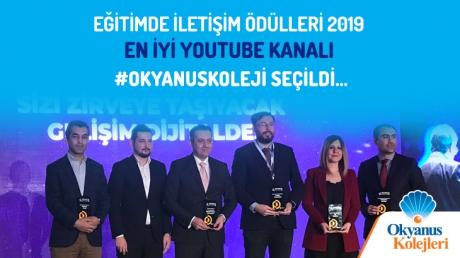Eğitimde iletişim ödülleri 2019 En İyi Youtube Kanalı Okyanus Koleji Seçildi...