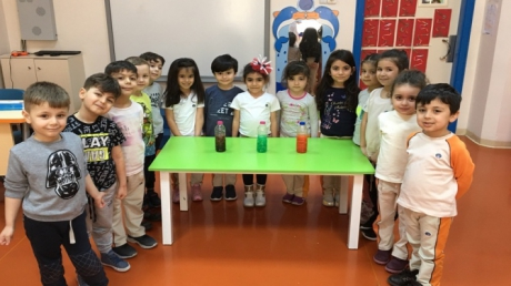 Güneşli Okyanus Koleji Okul Öncesi Yunuslar Grubu Fen Matematik Etkinliği Dersinde