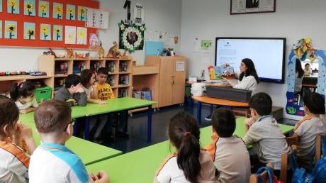 Halkalı Okul Öncesi Gökkuşağı Grubu Öğrencileri Bilingual Dersinde.