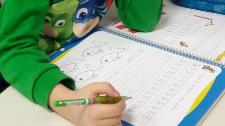 Halkalı Okul Öncesi  Yıldızlar Grubu Öğrencileri İlkokula Hazırlık Dersinde