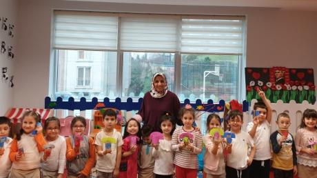 Halkalı Okul Öncesi Yıldızlar Grubu Aile Katılım Etkinliğinde.