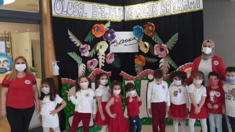 İncek Okyanus Okul Öncesi 23 Nisan Ulusal Egemenlik Ve Çocuk Bayramı Çoşkuyla Kutlandı.