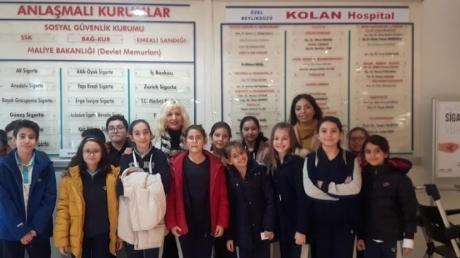 """Beykent Okyanus Koleji Ortaokulunda """"Gelecekte Bir Gün, Meslekte İlk Gün"""" Projesi"""