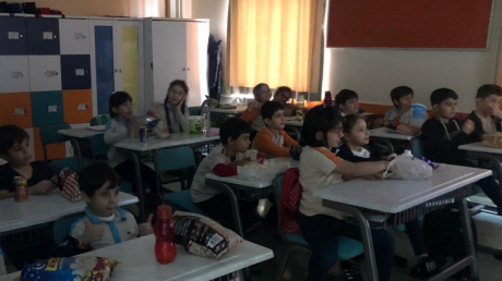 Beylikdüzü Okyanus İlkokulu'nda Film Keyfi