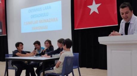 Lara Okyanus Koleji 7.sınıflar Arası Münazara Yarışması Düzenlendi