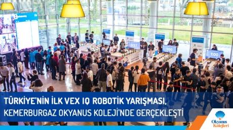 Türkiye'nin İlk VEX IQ Robotik Yarışması, Kemerburgaz Okyanus Kolejinde Gerçekleşti