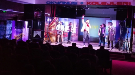 In Güneşli Okyanus Secondary School Students Watched Great Theatre