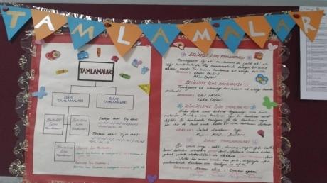 Adana Okyanus Koleji Türkçe Zümresi Sınıf Panolarını İşlenen Konularla Renklendirdi