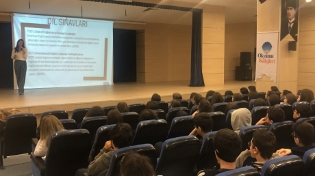 Ataşehir Okyanus Kolejinde OKIO Tarafından Yurtdışı Eğitim Semineri Verild