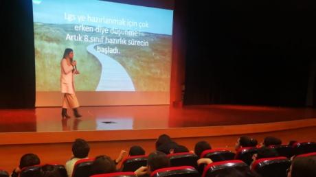 Bahçeşehir Okyanus Koleji Ortaokulu'nda 'LGS Filmim Başlıyor' Semineri