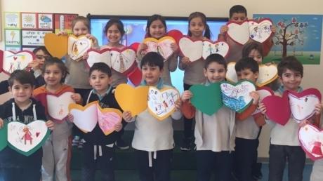 Bornova Okyanus Koleji Okul Öncesi Öğrencilerimiz Sevgi Günü Etkinliğinde