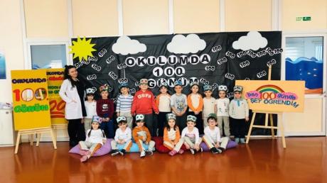 Güneşli Okyanus Koleji Okul Öncesi Öğrencileri 100. Gün Kutlaması Yaptı