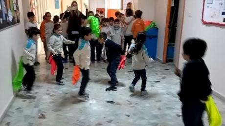 İlkokul Kademesi Öğrencileri Öğle Arası Koridor Etkinliği
