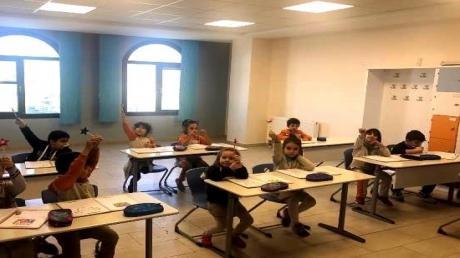 Kemerburgaz Okyanus Koleji Gökkuşağı Grubu Öğrencileri İlkokula Hazırlık Dersinde