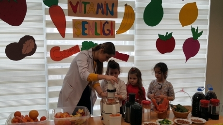 Mavişehir Okyanus Koleji Okul Öncesi Öğrencileri Vitamin Şenliğinde