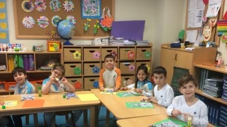 Mavişehir Okyanus Koleji Okul Öncesi Çiçekler Grubu Sanat Etkinliğinde