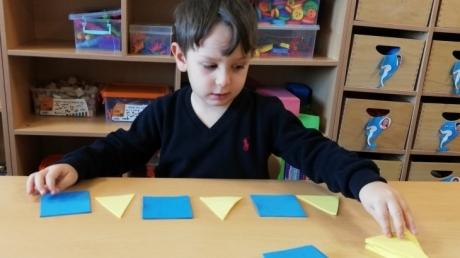 Mavişehir Okyanus Koleji Okul Öncesi Yunuslar Grubu Matematik Etkinliğinde
