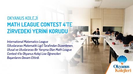 Okyanus Koleji Math League Contest 4'te Zirvedeki Yerini Korudu