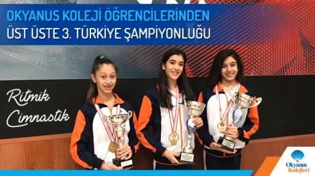 Okyanus Koleji Öğrencilerinden Üst Üste 3. Türkiye Şampiyonluğu