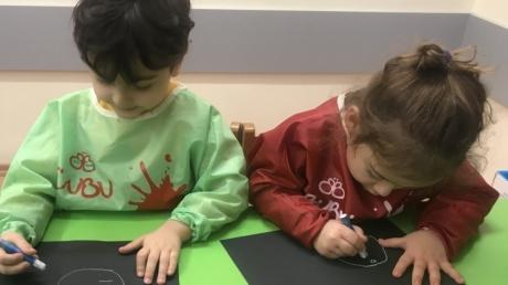 Okyanus Koleji Okul Öncesi Kuşlar Grubu Sanat Dersinde