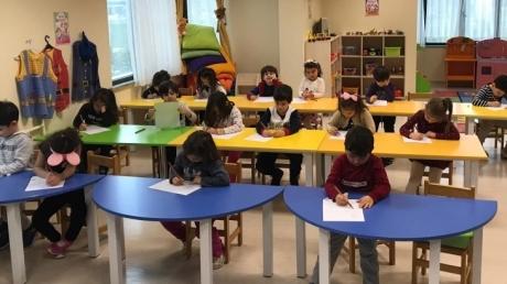 Sancaktepe Okyanus Koleji Okul Öncesi Bulutlar Grubu Öğrencileri Okuma Yazmaya Hazırlık Etkinliğinde