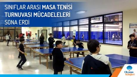 Sınıflar Arası Masa Tenisi Turnuvası Mücadeleleri Sona Erdi