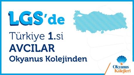 LGS'de Türkiye 1.si Avcılar Okyanus Kolejinden